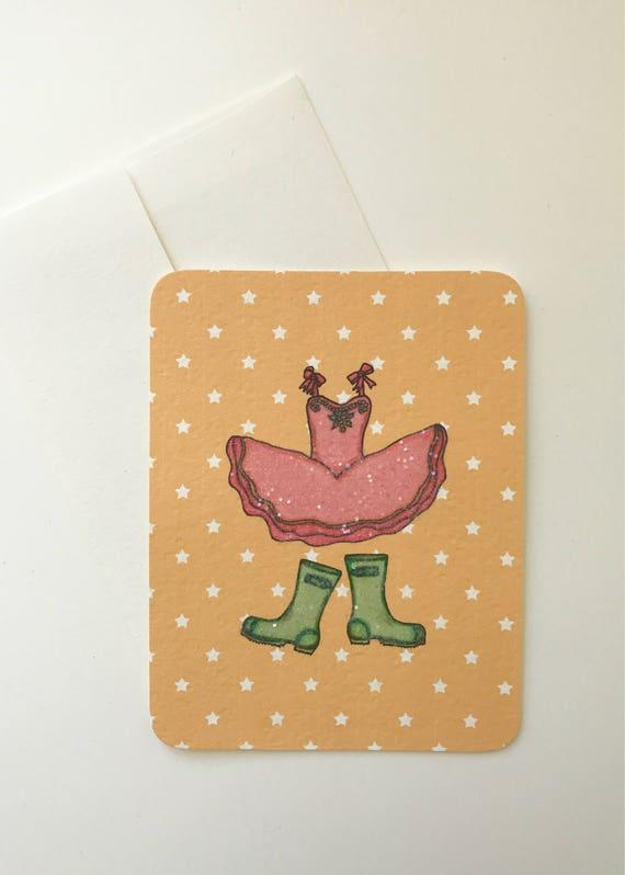 Tutu and Rain Boots Card