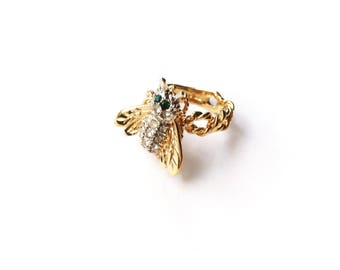 Vintage Bee Ring Size 6.5