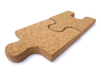 Cork Puzzle Trivet Pot Holder set 2