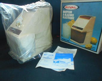 Rival Electric Ice Crusher Model C840,  Brand New Old Stock, In Original Box and Packaging
