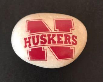 Nebraska Rocks- Cornhuskers - Your School Rocks- College Gifts- School Stones - All School are Available