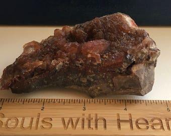 Red Quartz Crystal Cluster,  Healing Crystals, Healing Stones