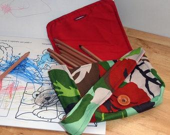 Kids Camo, red lining shoulder bag