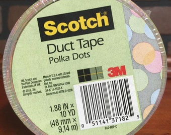 Scotch Duct Tape 1.88 X 10 Yards Polka Dots