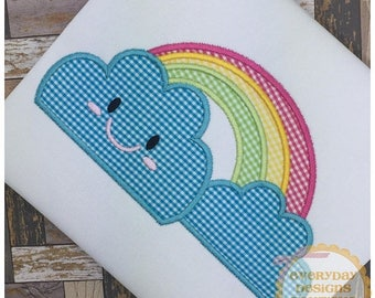 ON SALE Rainbow Machine Embroidery Applique Design