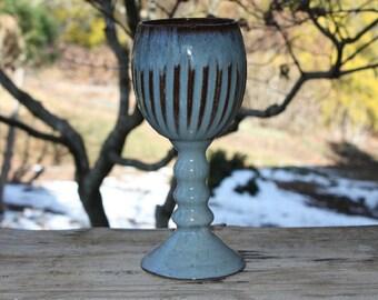 Stoneware goblet, Ceramic wine glass