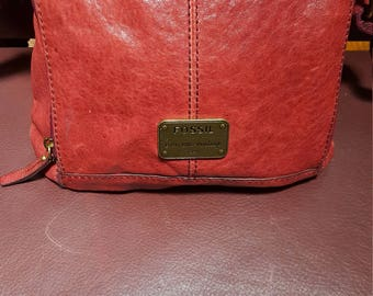 Fossil Shoulder  Bag 10.5×11.0 Many Compartments