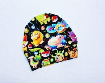 Baby Pokemon Knit Hat 12-24 months 2T Toddler Pokemon Beanie Hat Baby Pikachu Hat Pokemon Beanie Snorlax Toddler Pokemon Costume Hat