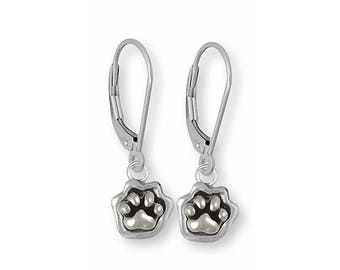 Dog Paw Bracelet Jewelry Sterling Silver And Faceted Black