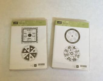 4 Stampin Up Take a Spin Rubber Scrapbooking Stamps S22