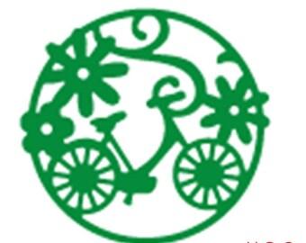 FLOWER BICYCLE Circle Die - Bike Die cc02