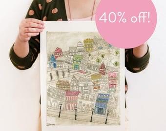 40% OFF! Paris - Reproduction of an original Artwork