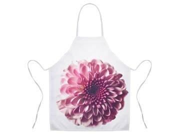 Pink Flower Apron, Floral Apron, Nature Photo Apron, Gift for Chef, Apron for Women, Pink Apron, Unique Hostess Gift, Kitchen Apron