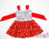 Wonder Woman Dress - Everyday Dress- Wonder Woman- Clothing- Girls Dress - Girls Summer Dress- Marvel Clothing- Birthday Theme- Superhero