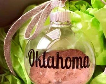 Oklahoma Red Dirt Ornament