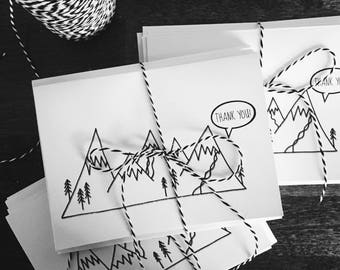 Shout It From the Mountains || Thank You Cards || Thank You Card Set
