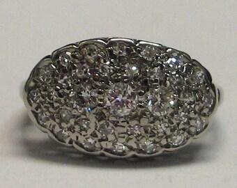 14kt W/G 4.6g Ring Diamonds