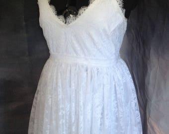 ON SALE Lace wedding dress size 14