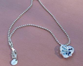 Retro BF Heart Claire's Locket  Necklace