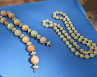 Lot Of Retro Beaded Necklaces TLC Stains