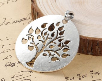 2 TREE Of LIFE Pendants Charms - Very Large Tree Of Life Charms 2 1/4""
