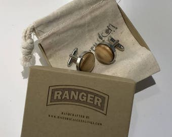 Historical Cuff links made from the wall from the Ranger Course