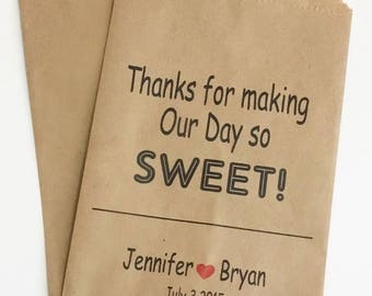 ON SALE Candy Buffet Bags, Wedding Custom Candy Bar Bags, Favor Bags, Bags for Candy