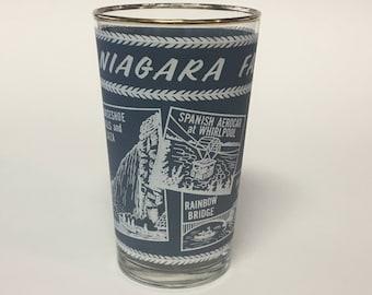 Niagara Falls Souvenir Glass ca.