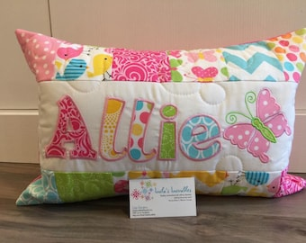 Spring Birds and Butterfly personalized pillow case 12x18 inches