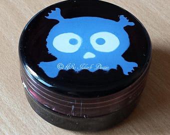Small box plastic screw personalized kids blue girly skull