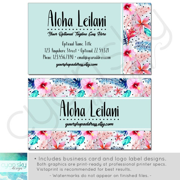 Tropical hawaiian etsy shop banners avatar icons business card tropical hawaiian etsy shop banners avatar icons business card logo label more reheart Image collections