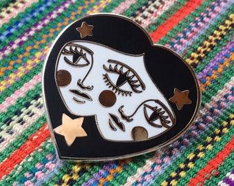 Siamese Twins Hard Enamel Lapel Pin