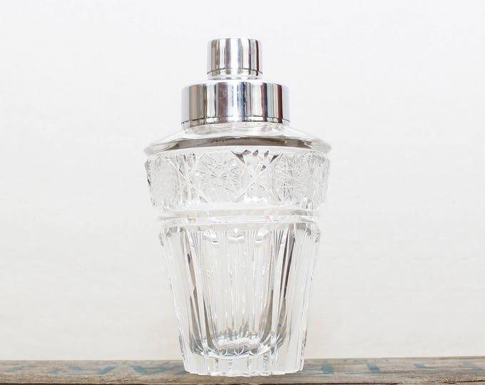 Vintage 1950s Crystal Cocktail Shaker