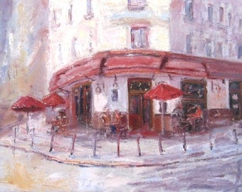 Nice to see you oil Painting One of a kind Hand painted Artwork Impressionism Signed with Certificate of Authenticity