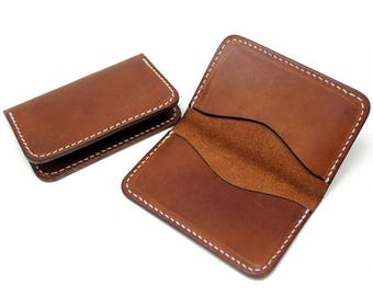Leather business card holder, leather business card case, personalized business card holder, business card wallet, credit card case