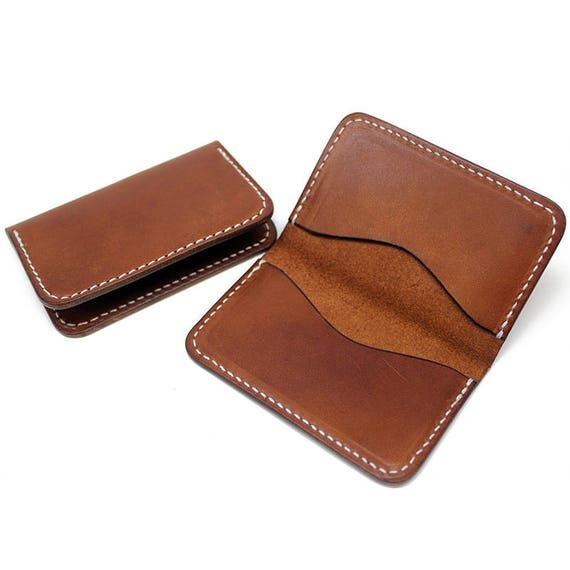 Leather business card holder leather business card case like this item colourmoves
