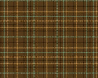 """A yarn dyed, plaid fabric designed by Kim Diehl for Henry Glass. Part of the """"Helping Hands"""" line."""