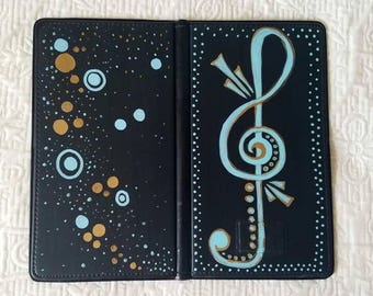 Hand Painted Server Book/Waiter Wallet