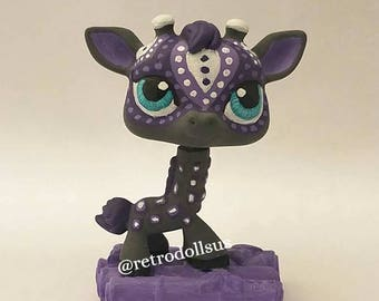 Littlest Pet Shop Toy - Custom OOAK LPS Giraffe