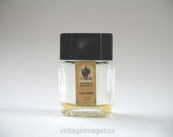 Vintage Potter & Moore Mini Perfume Bottle, Mitcham Lavender, 1930s 40s