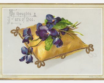 Victorian Thoughts of Thee Card, c. 1880