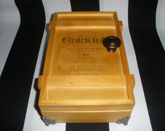 Gurkha Cigar Box Valet, Watch Box, Stash Box, Jewelry Box, Groomsman Gift, Guy Gift, Authentic, Tampa
