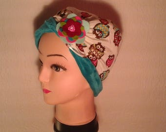 Multicolor stretchy reversible chemo Hat
