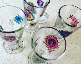 Hand-painted Tea Glasses (set of)