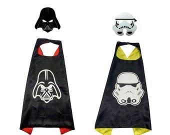 Vader and Storm Trooper cape and felt mask