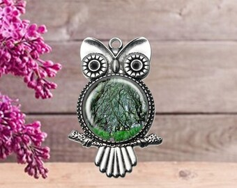 Enchanted Forest Owl Pendant
