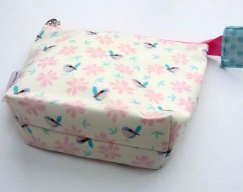 Small Baby birds waterproof make up bag