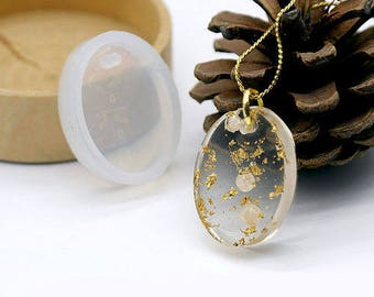 Silicone pendant mold 25x18mm oval, ideal for resin - mylittlebird
