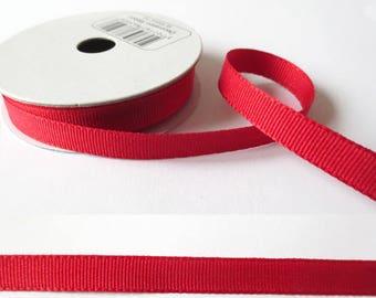 2 m x fancy 8mm red grosgrain Ribbon