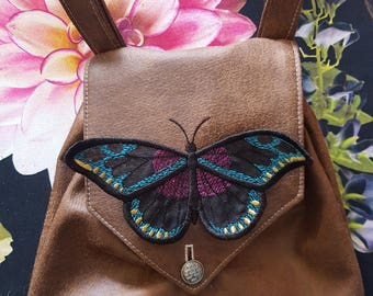 Embroidered Renaissance 3D Butterfly Hip Pouch